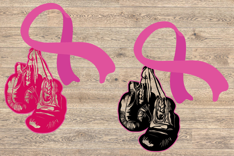 Winner Boxing Gloves Hanging On Breast Cancer 1463S example image 2