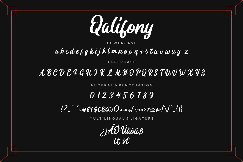Qalifony Handwritten Brush example image 7