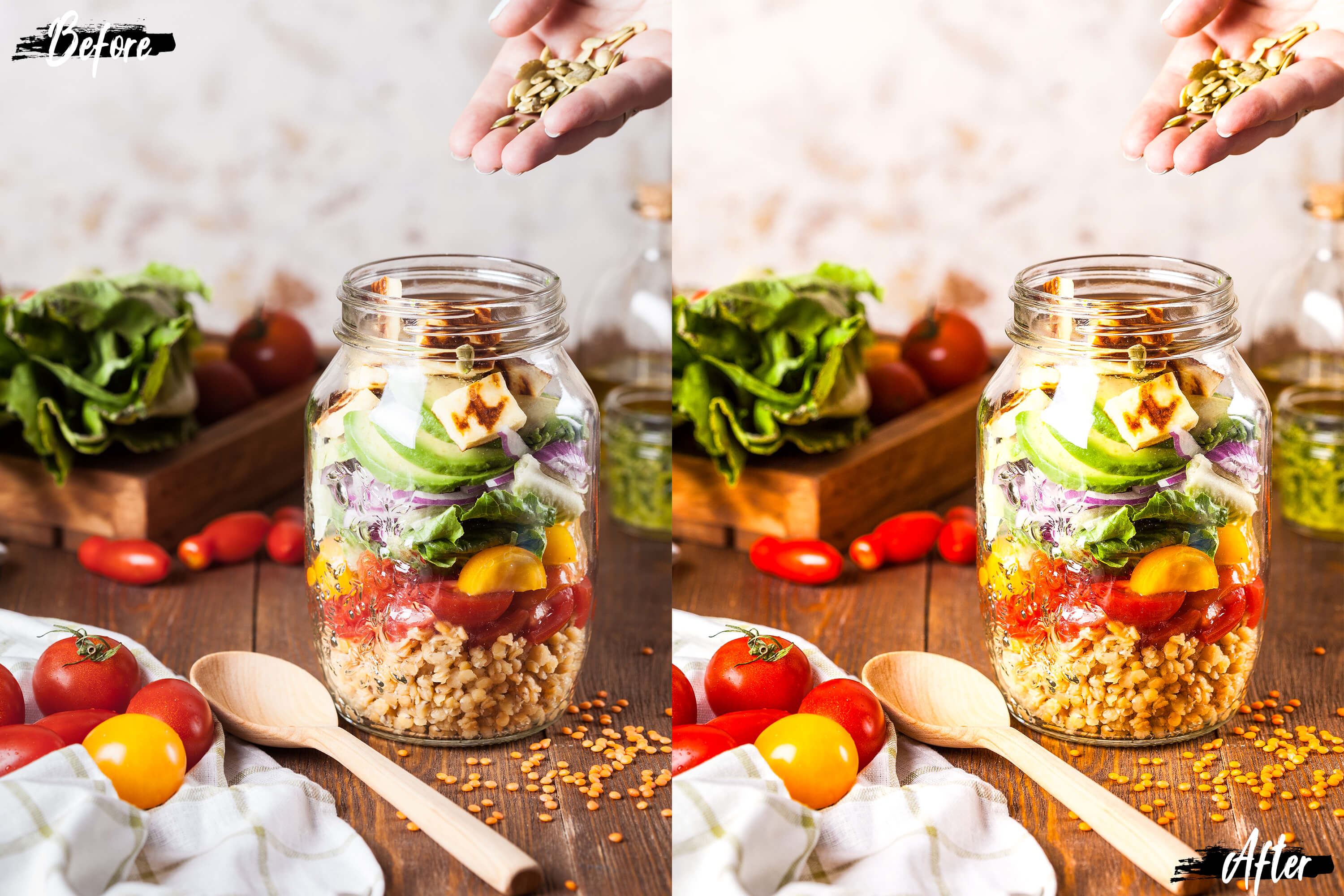 Neo Yummy Food Theme Color Grading photoshop actions example image 5
