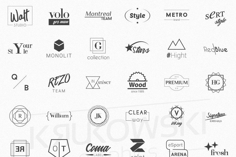 Minimalist Logos - Bundle Set example image 2