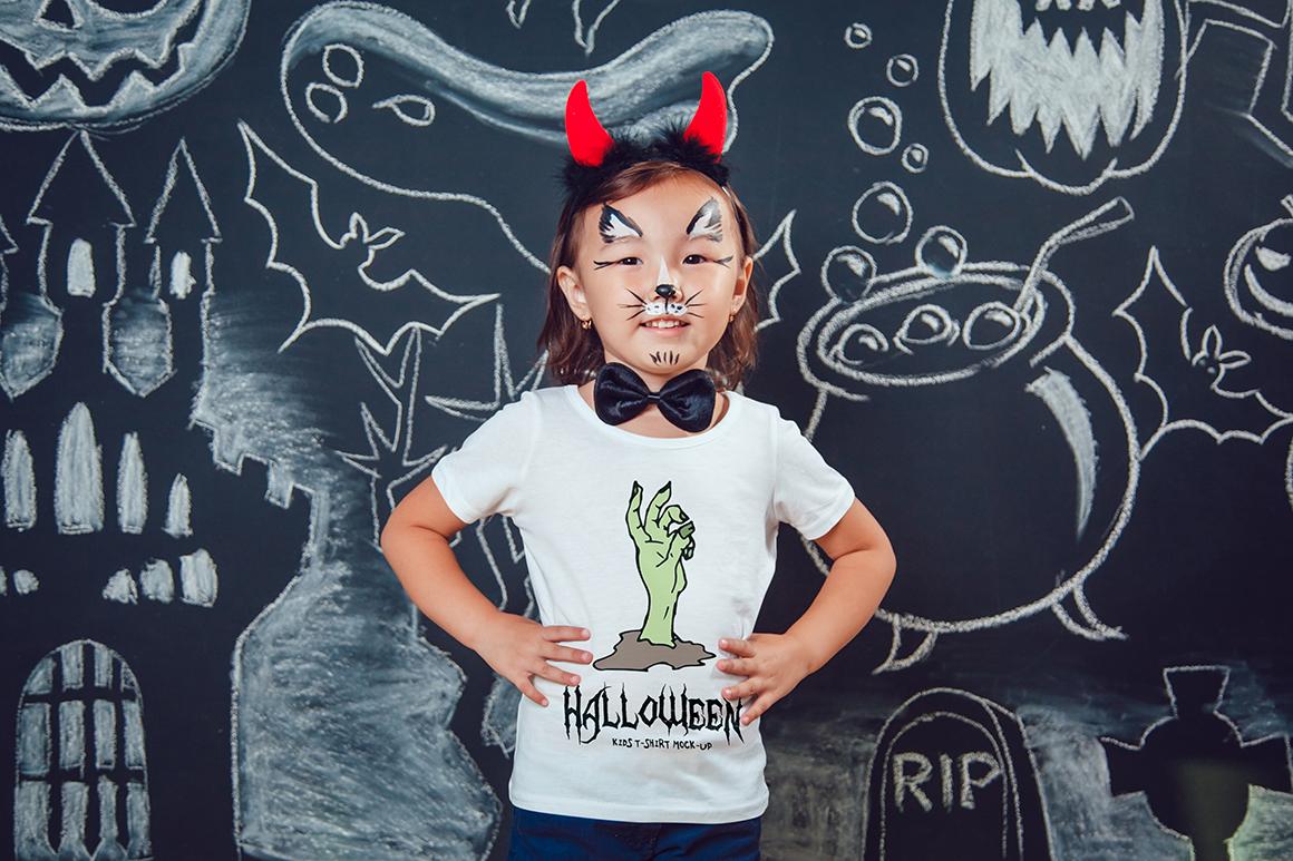 Halloween Kids T-Shirt Mock-Up example image 2