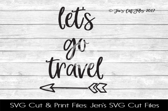 Let's Go Travel SVG Cut File example image 1