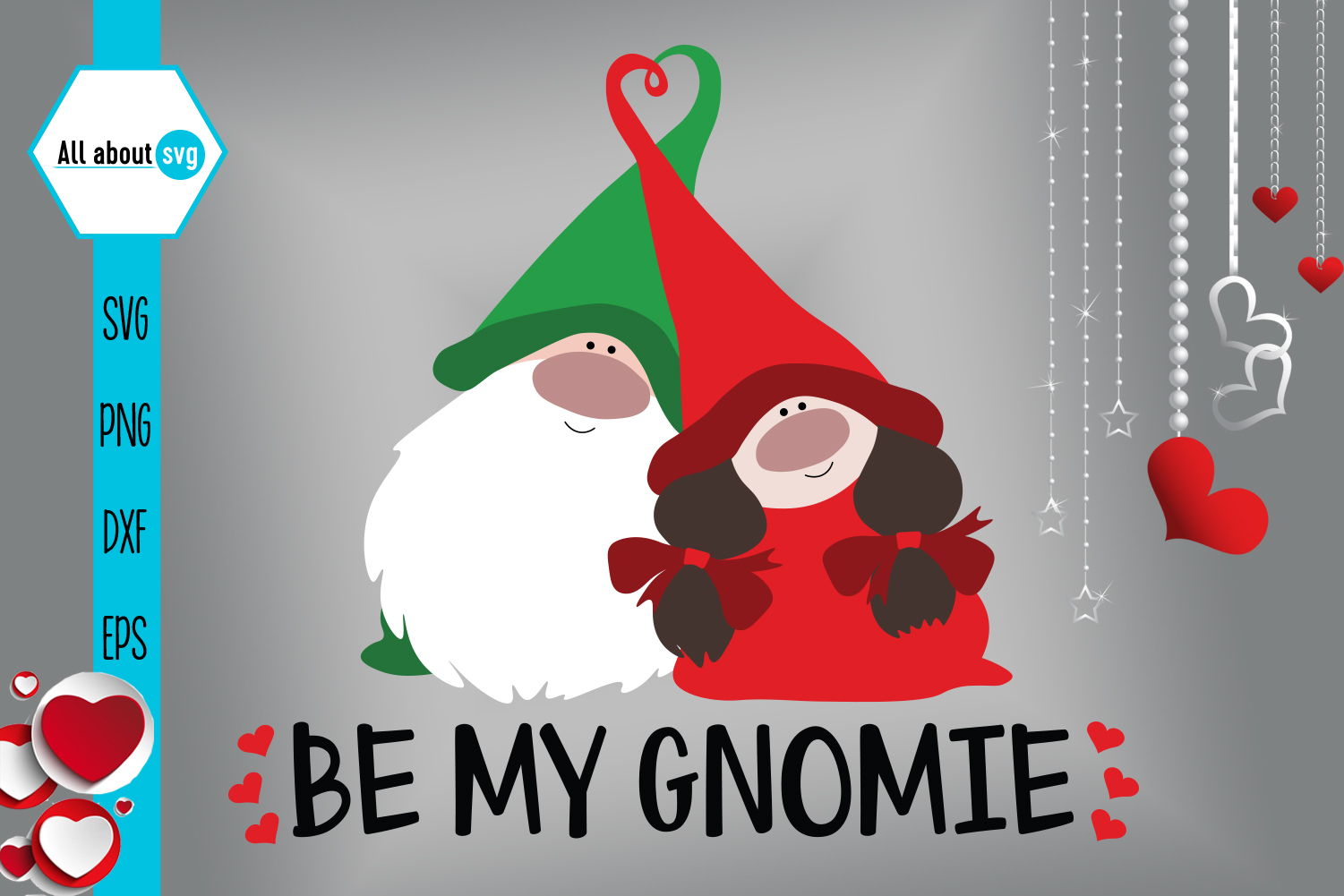 Be My Gnomie Svg, Gnome Svg, Valentine's Day svg example image 2