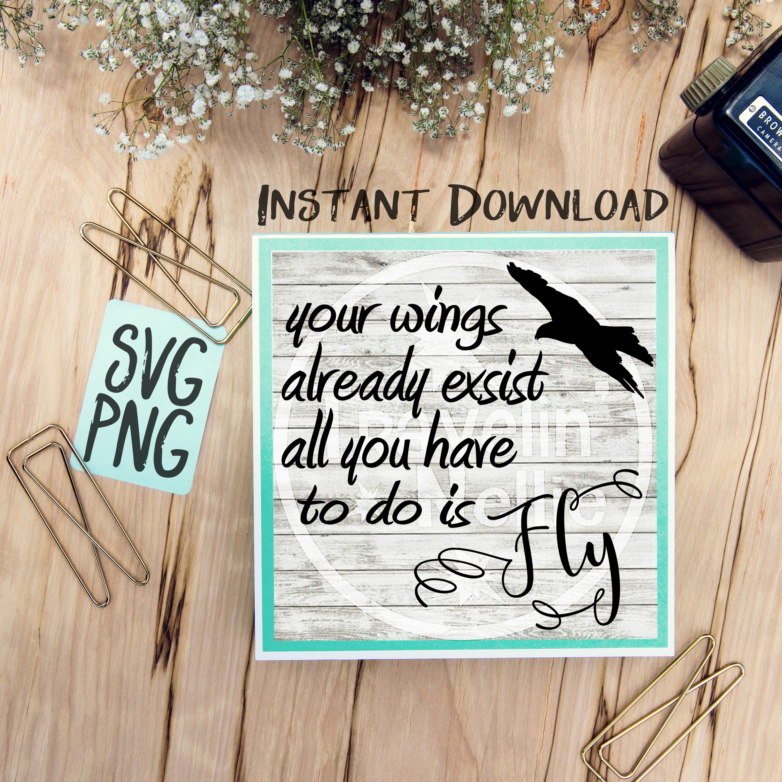 Your Wings Already Exist All You Have To Do Is Fly SVG PNG Image Design for Cut Machines Print DIY Design Brother Cricut Cameo Cutout example image 1