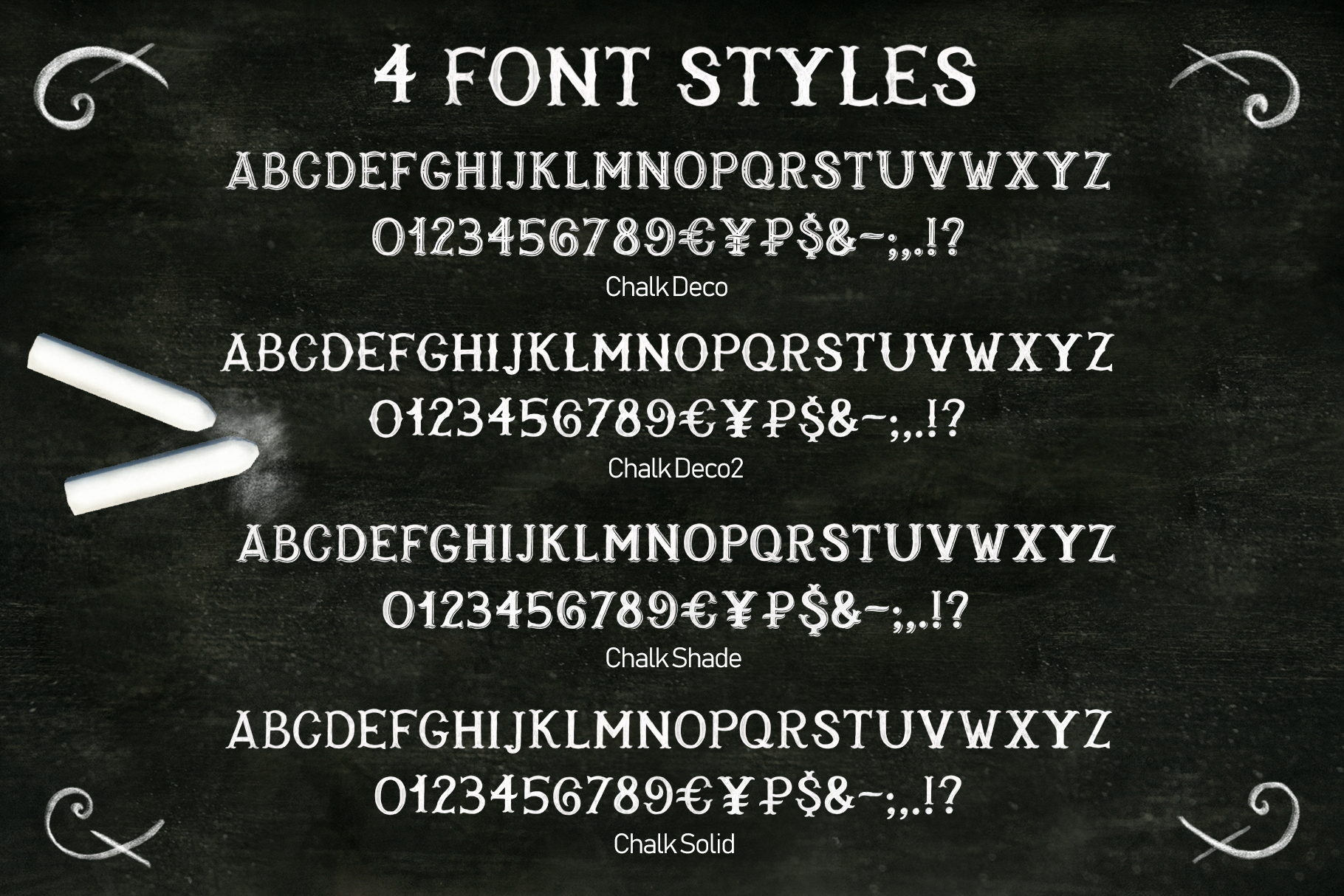 Chalk SVG font example image 3