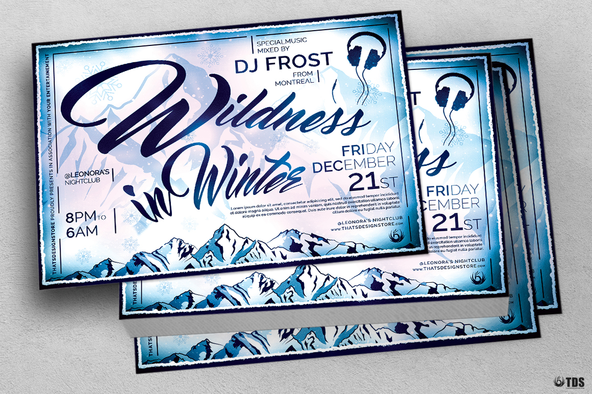 Wildness in Winter Flyer Template example image 5