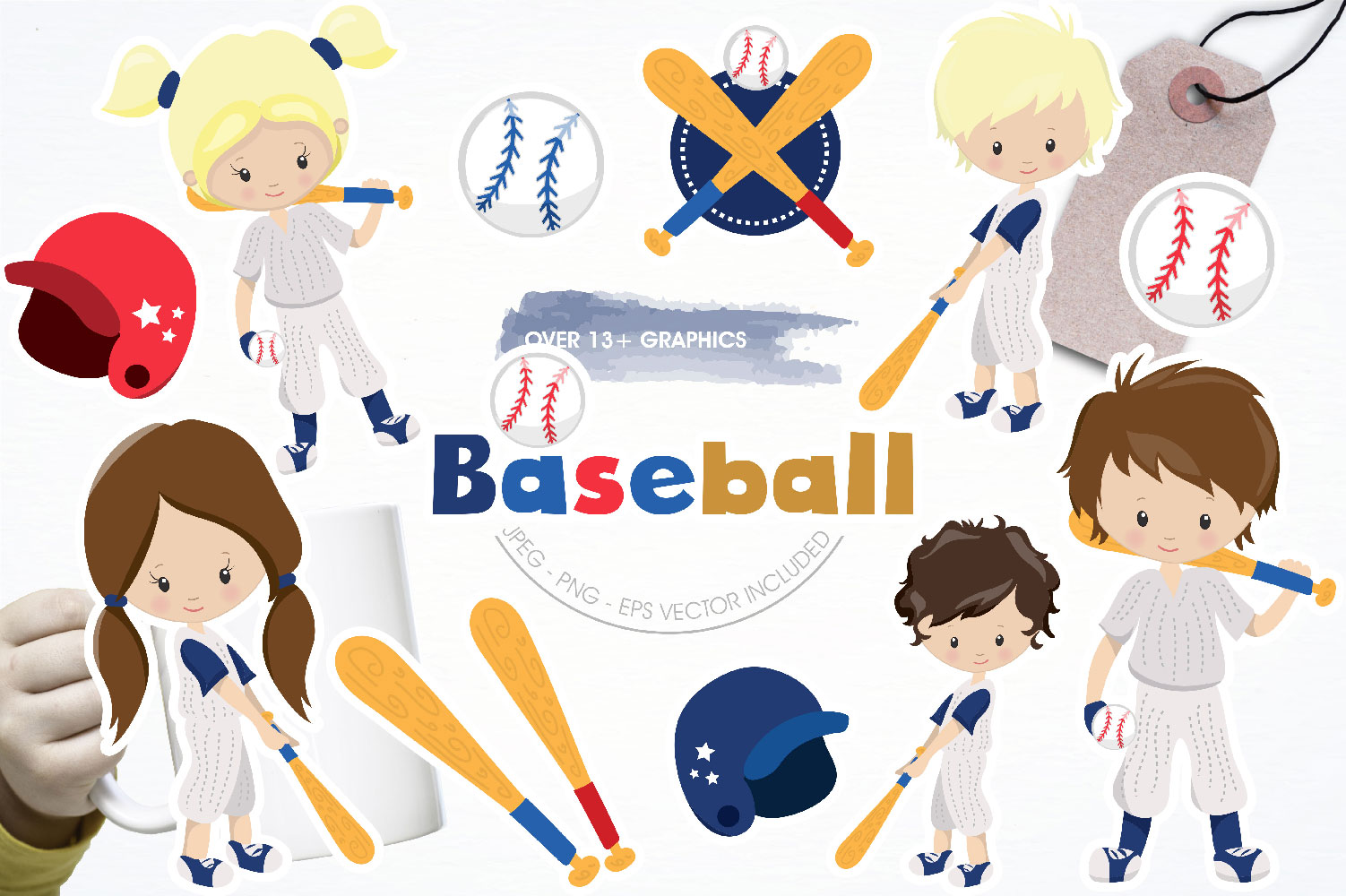 Baseball Cute Graphics example image 1