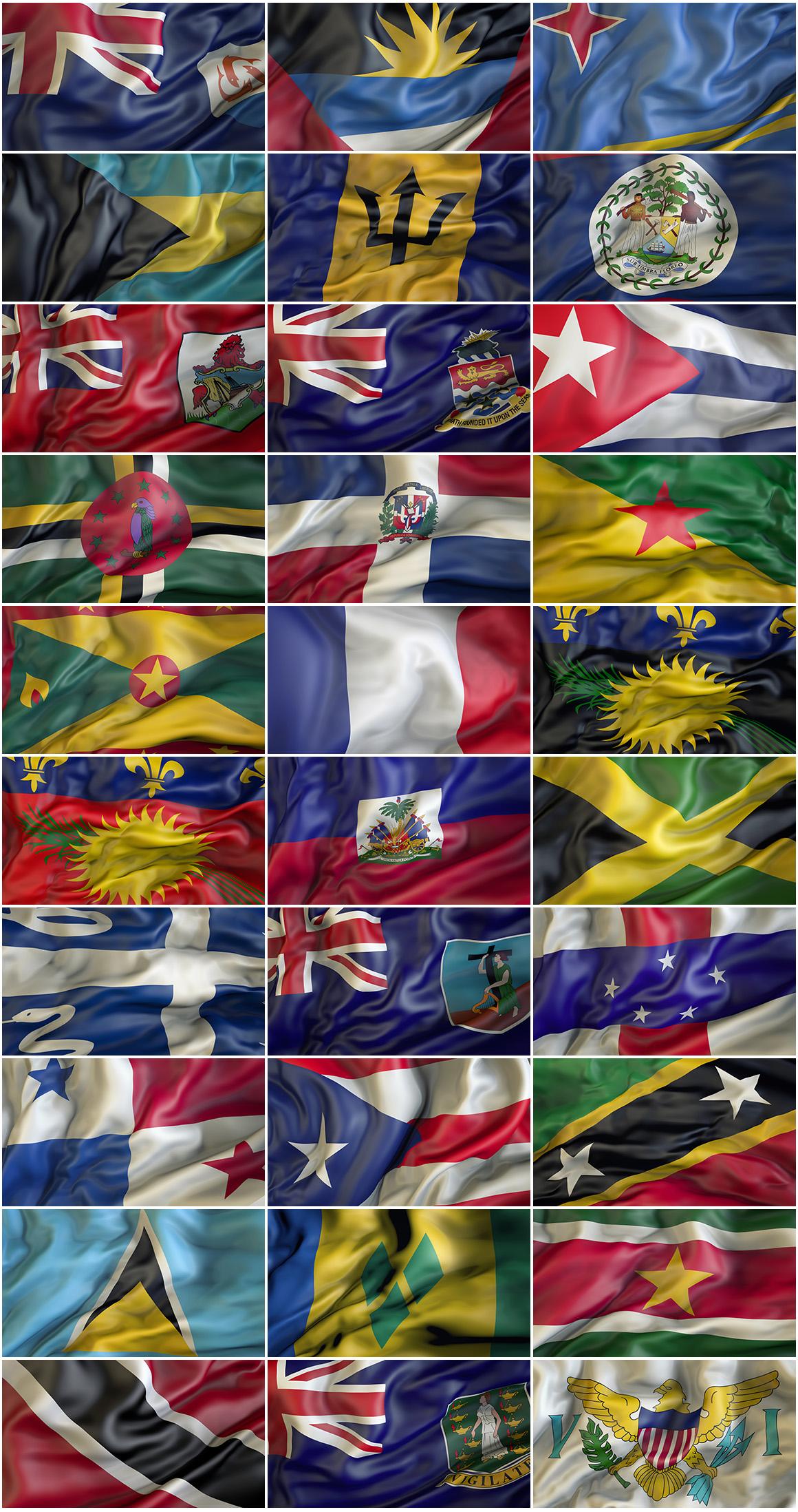 Caribbean Waving flags example image 2