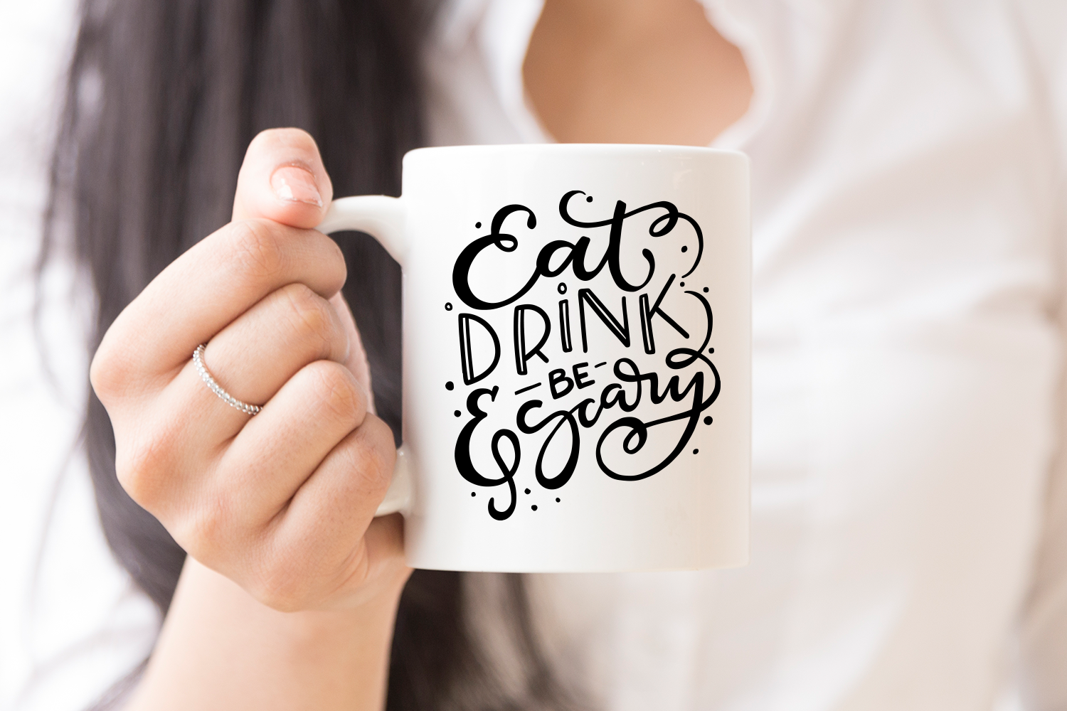 Eat Drink & Be Scary Cut File, SVG example image 2
