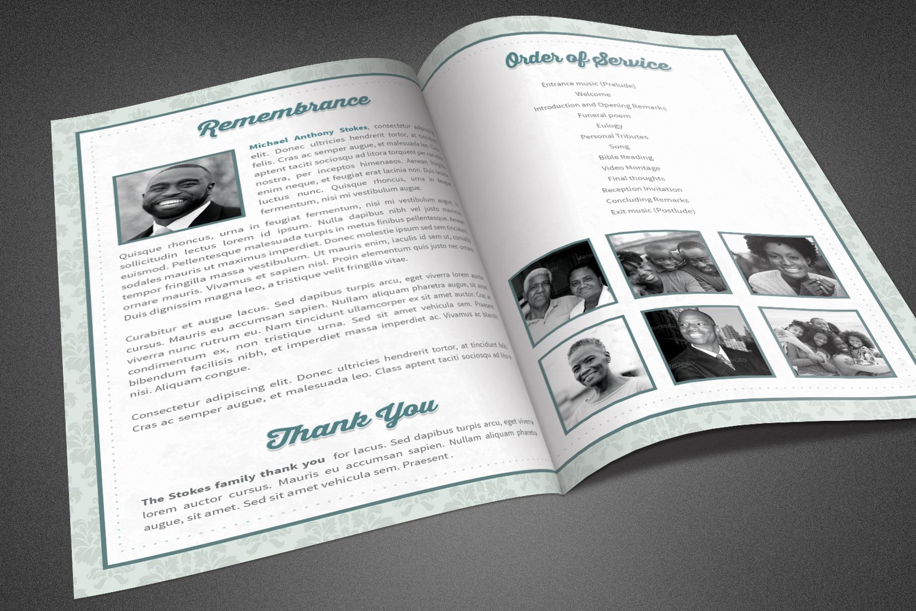 Comfort Funeral Program Template example image 3