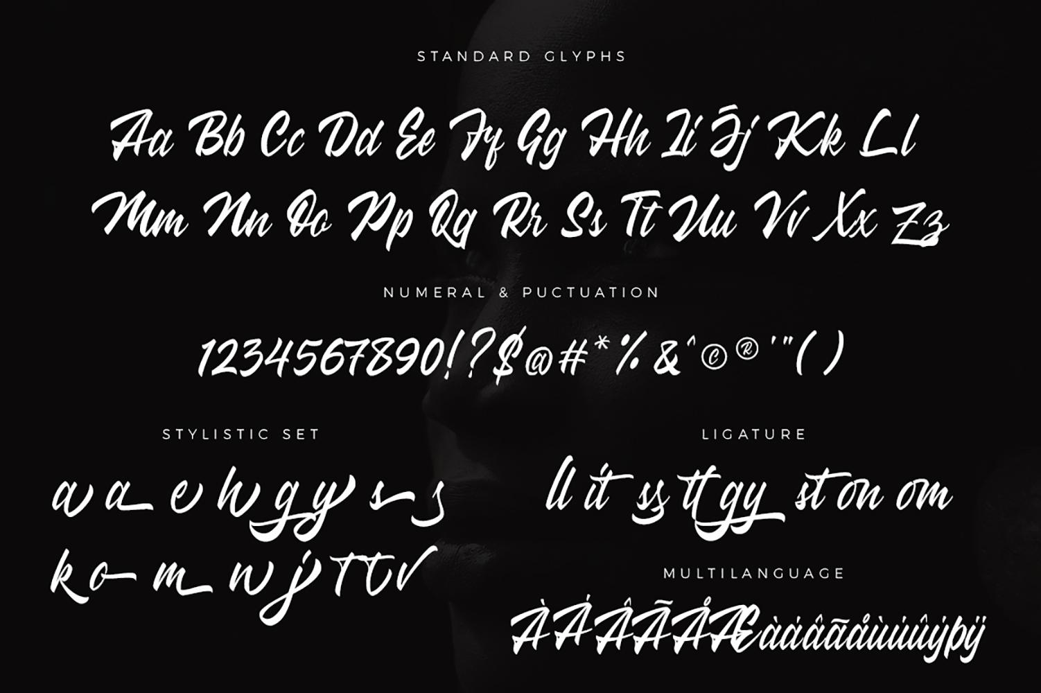 Wakanda Script Font example image 8