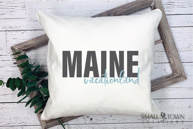 Maine, Vacationland - slogan, Logo, PRINT, CUT & DESIGN example image 9