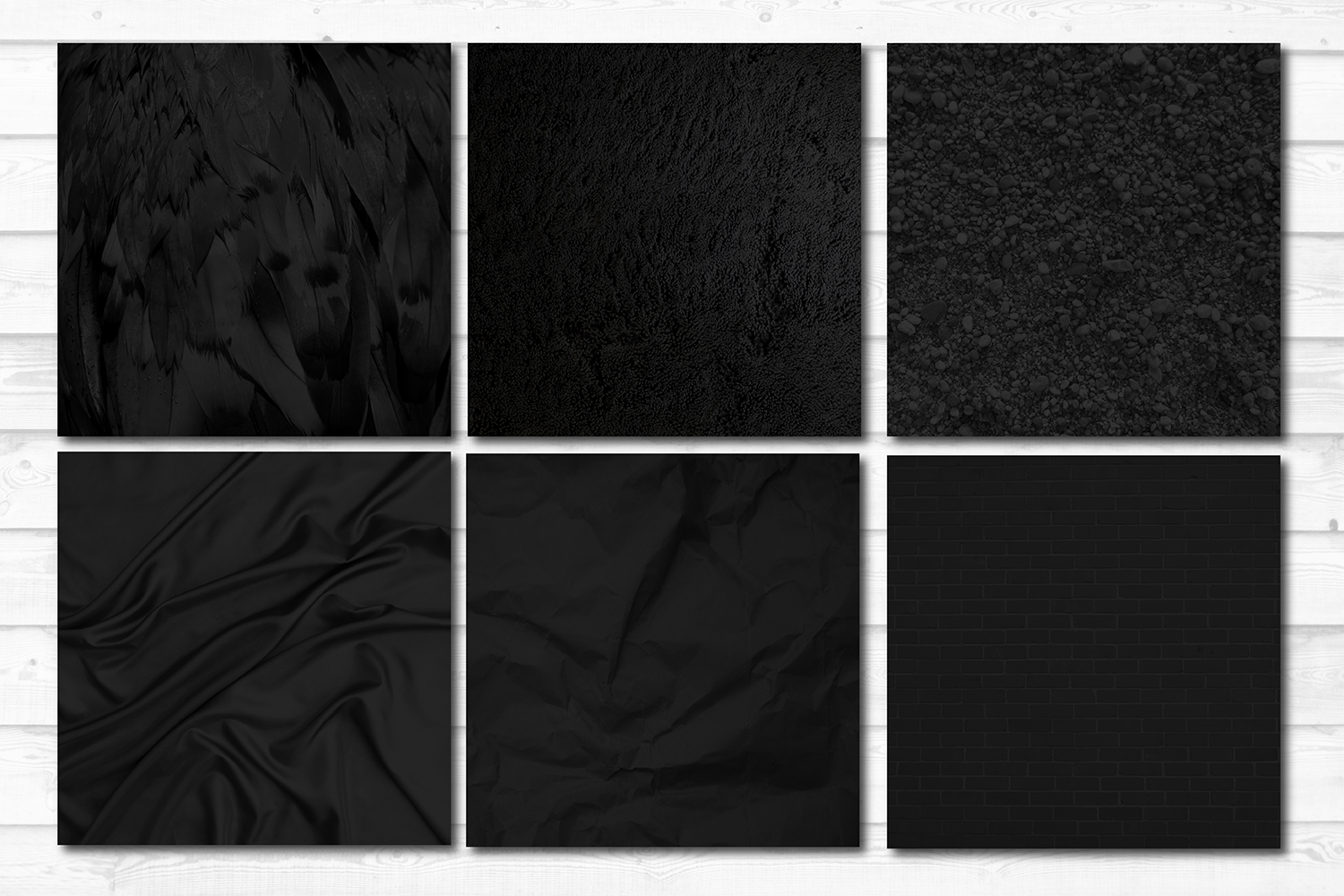 16 Black Photo Texture Background Digital Papers Bundle example image 2