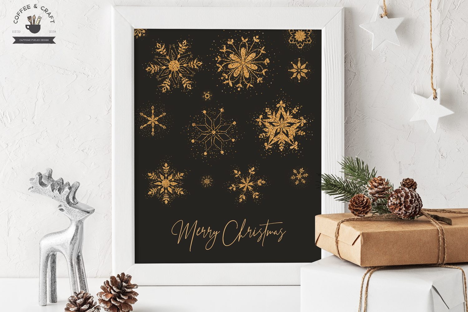 Golden Flecked Snowflakes example image 4