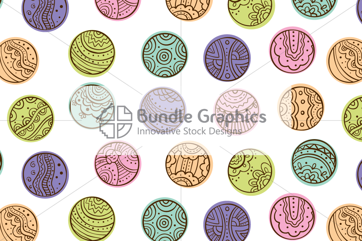 Tribal Graphic Circles  - Decorative Seamless Background example image 2