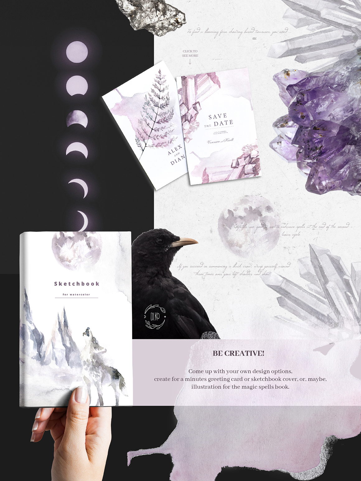 Gloomy fairytale graphic collection. example image 12