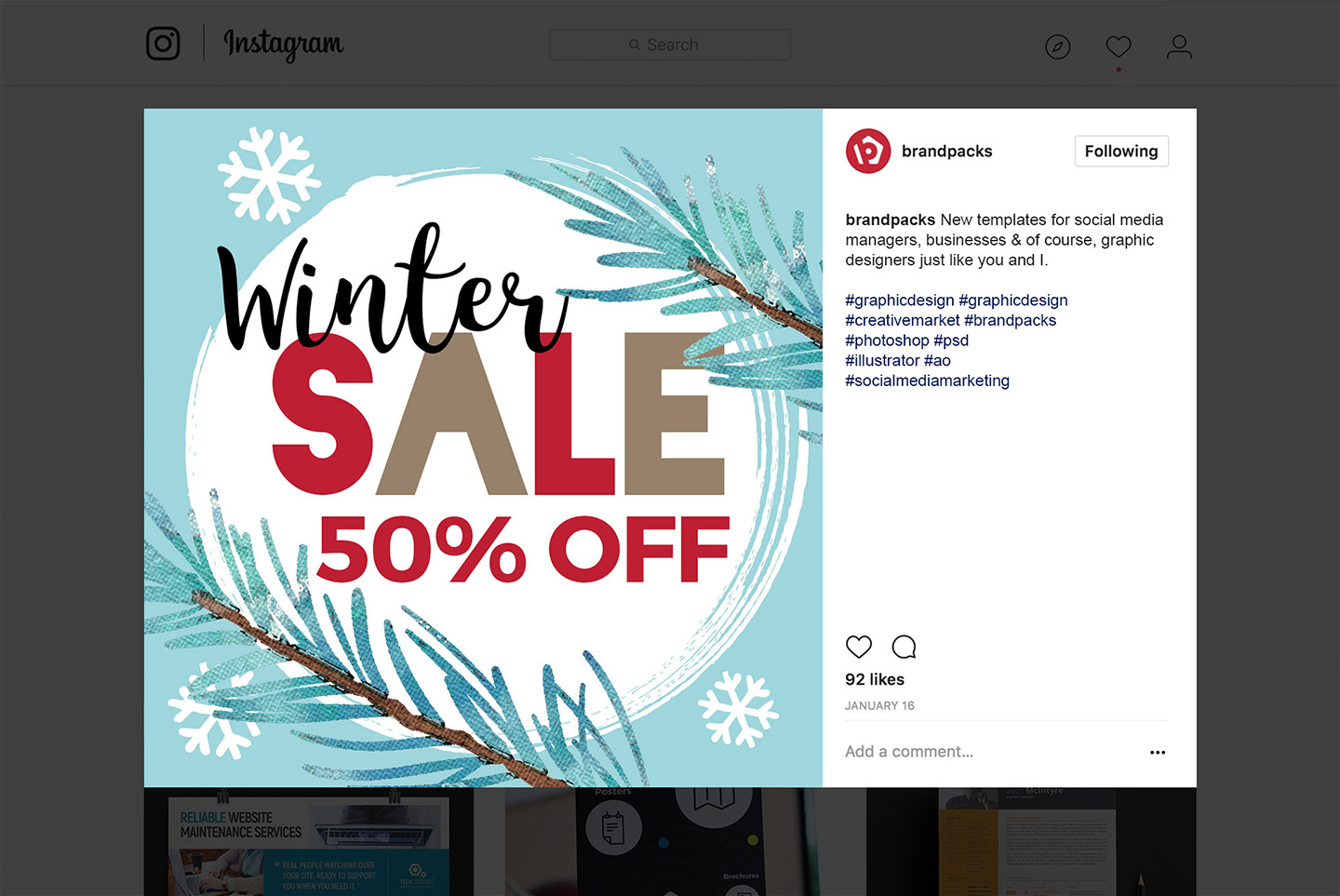 Winter Social Media Templates example image 7