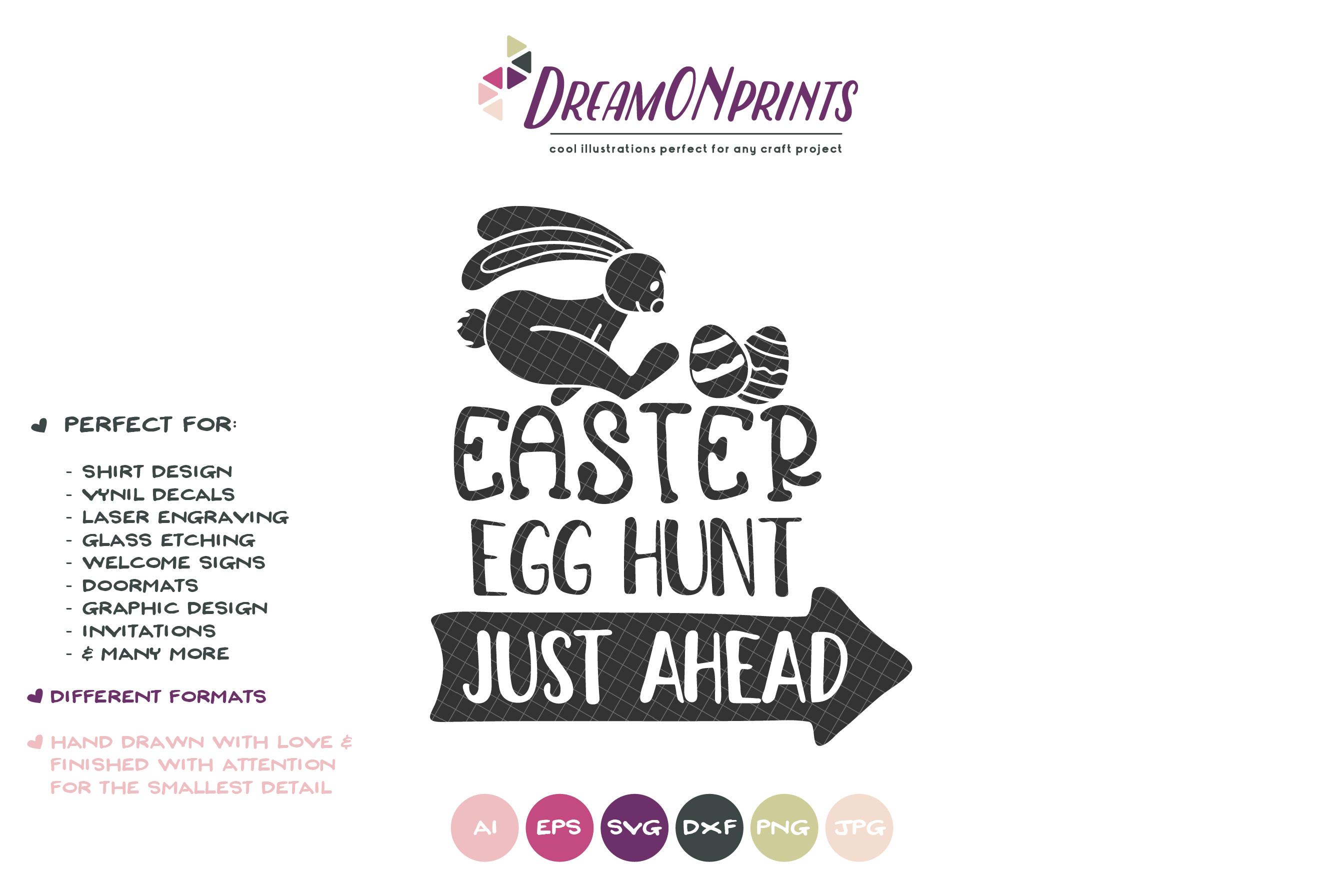 Easter Egg Hunt SVG - Easter Sign Making SVG example image 2