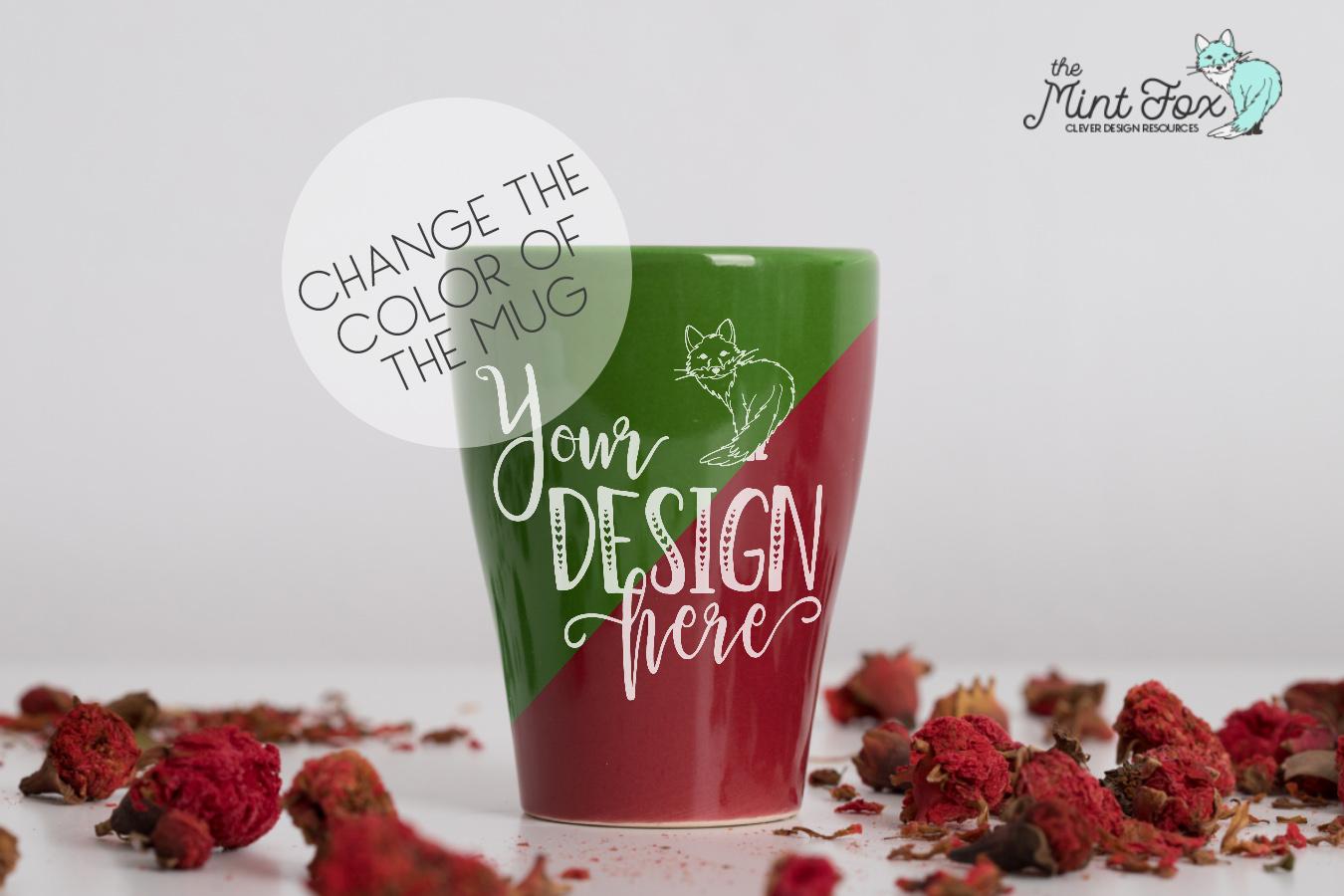 Coffee Cup Mockup | PSD & JPG Coffee Mug with Flowers example image 4