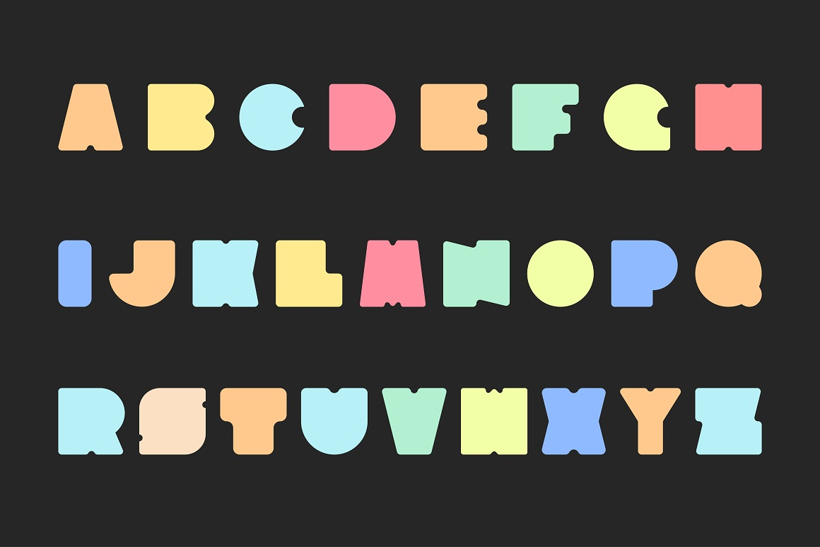 Bright colorful font. Funny alphabet example image 5