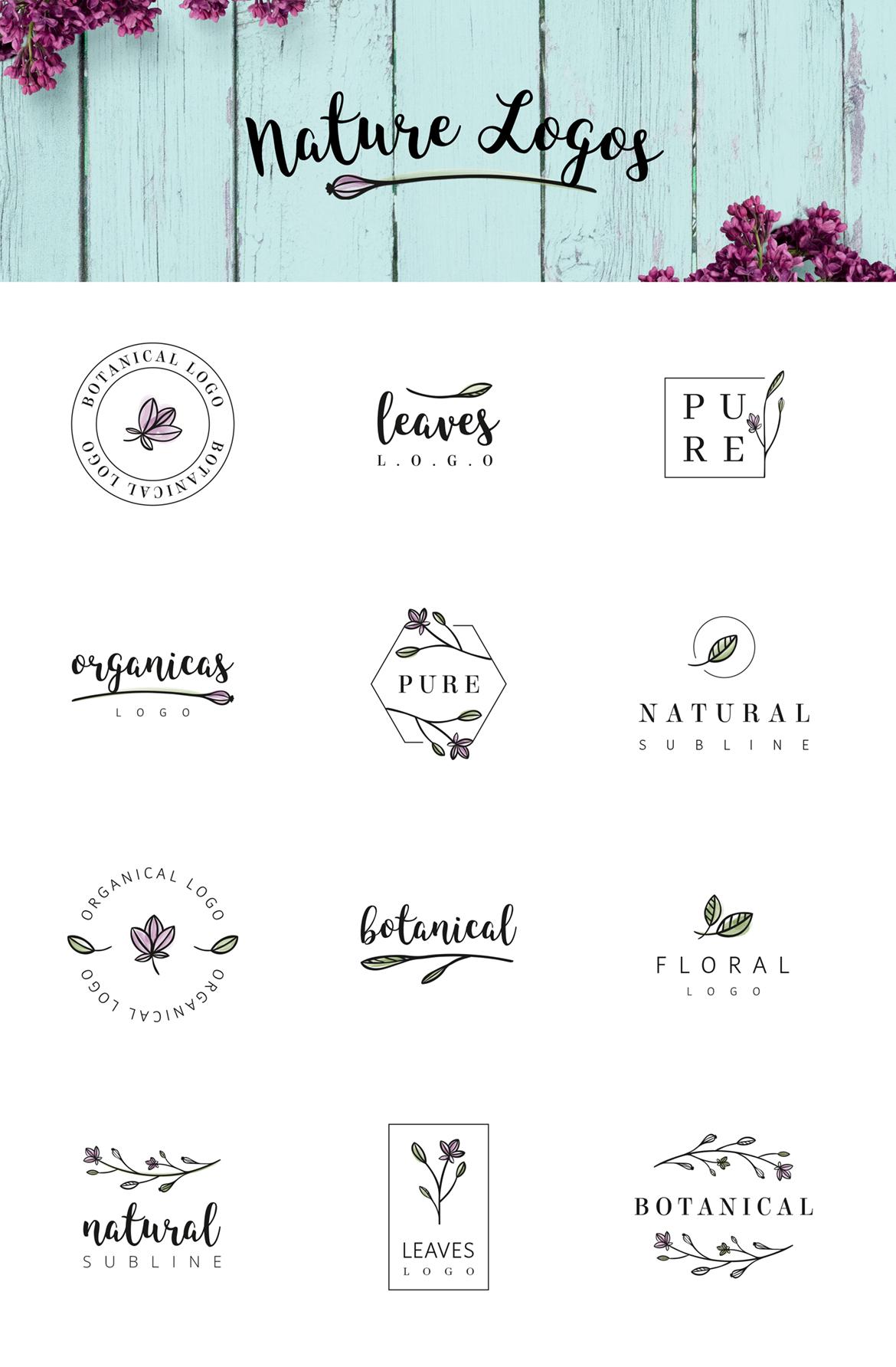 Nature & floral logos + BONUS example image 5