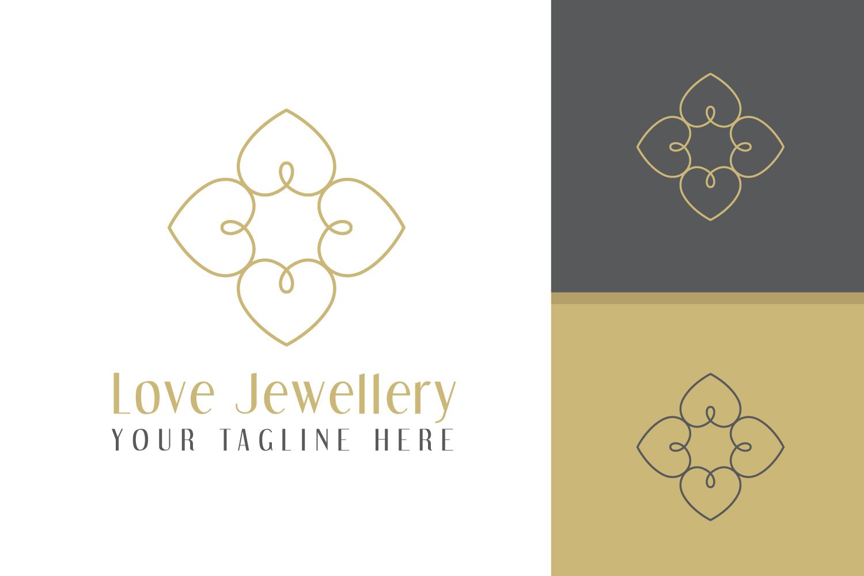 Love Heart luxury Logo example image 1