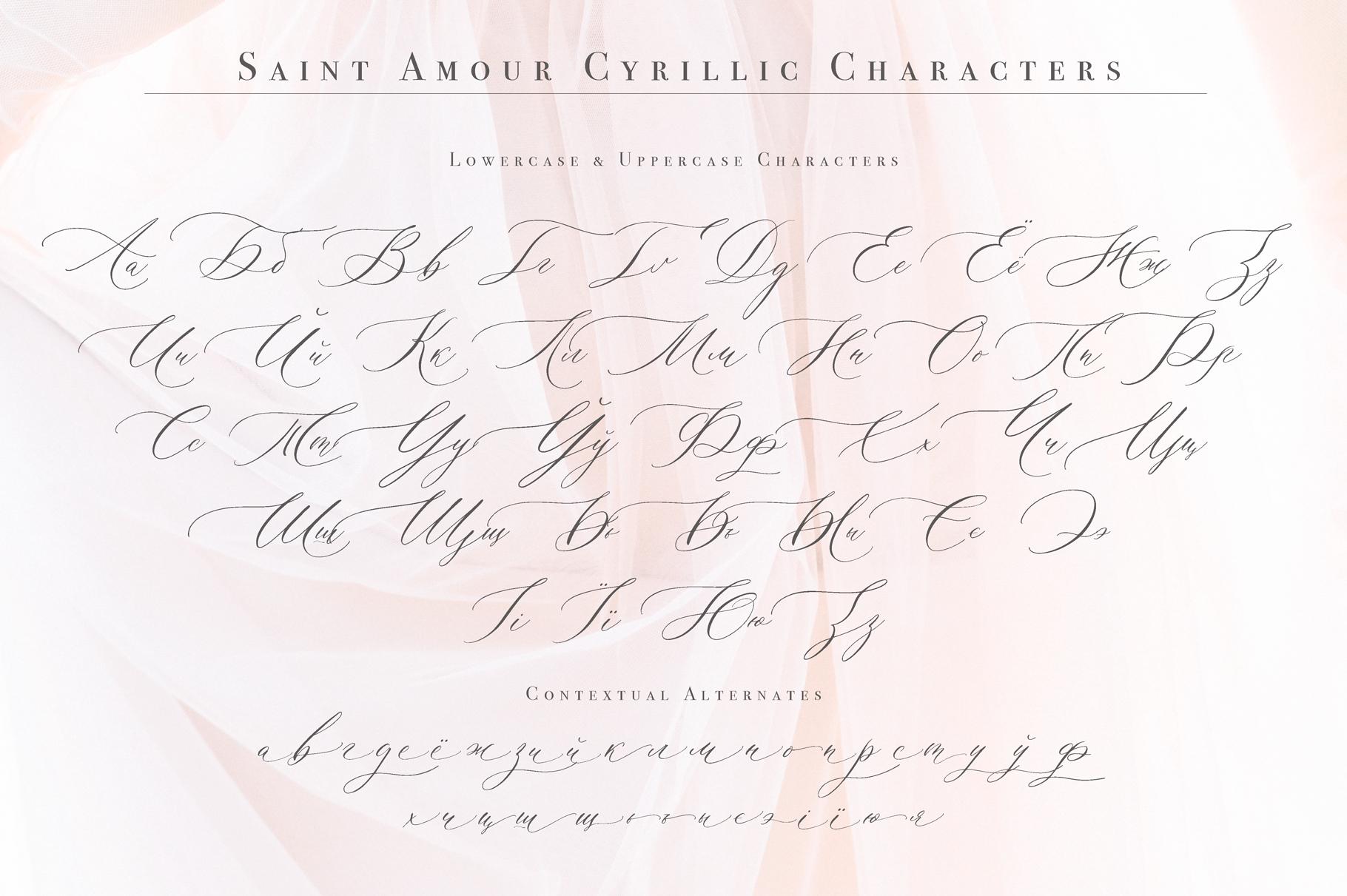 Saint Amour Script example image 12