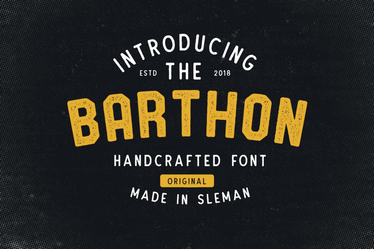 Barthon Typeface Combo (7Fonts)! example image 4