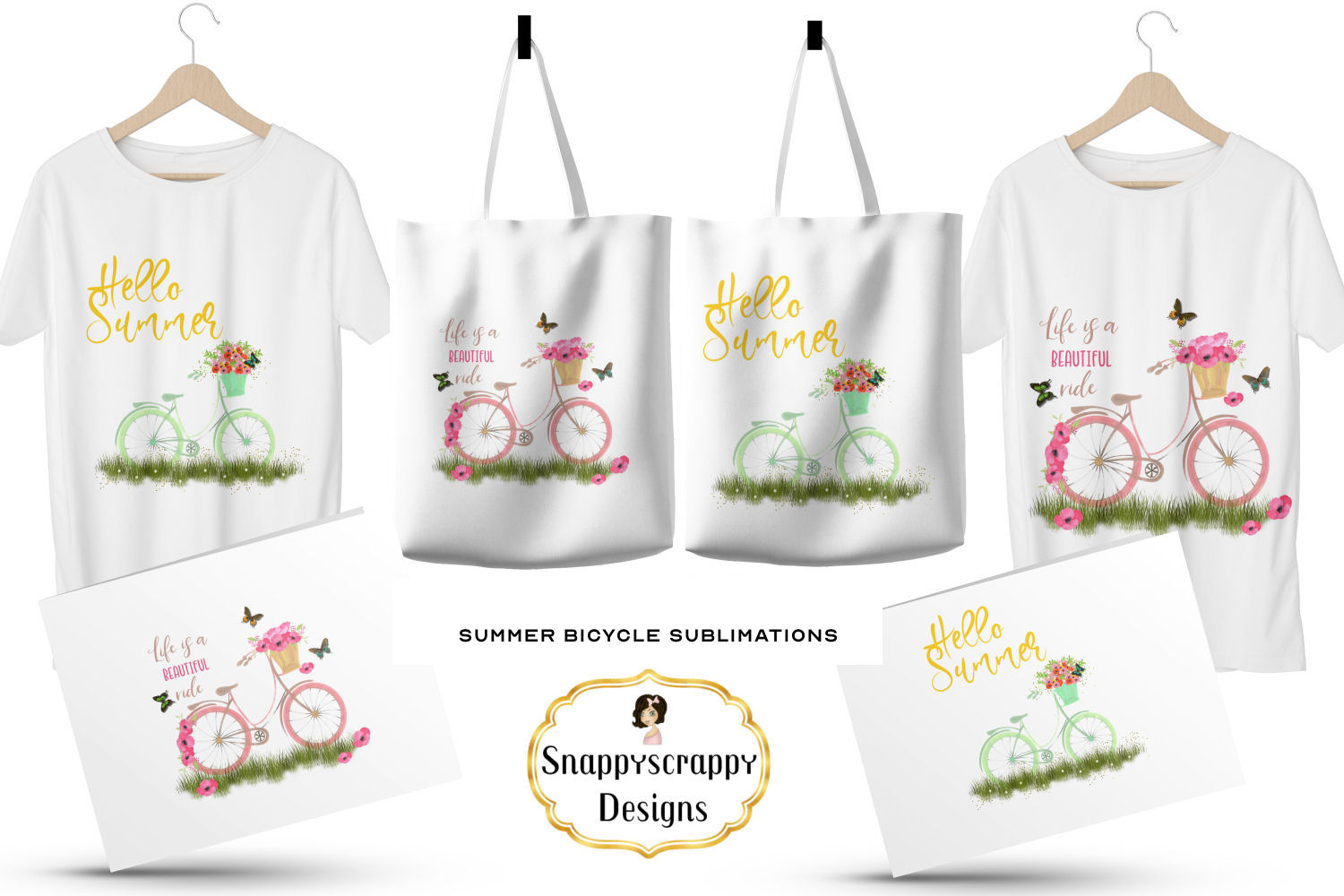Summer Bicycle Sublimations example image 3