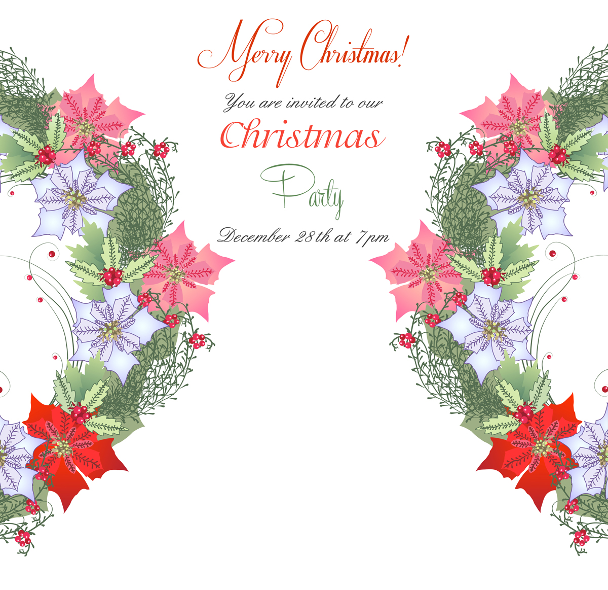 Christmas Wreath with Poinsettia example image 3