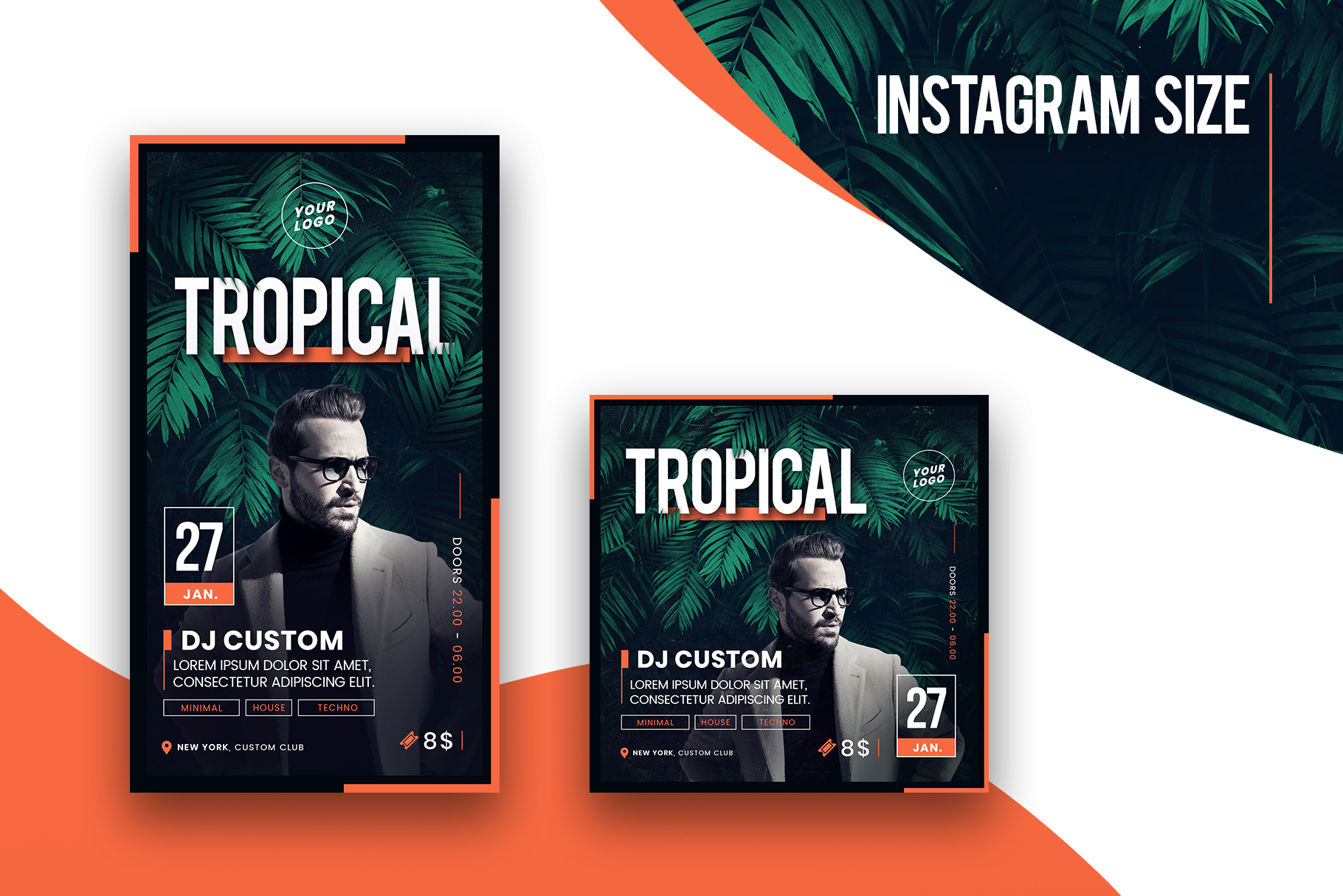 Tropical Party Flyer Template example image 4