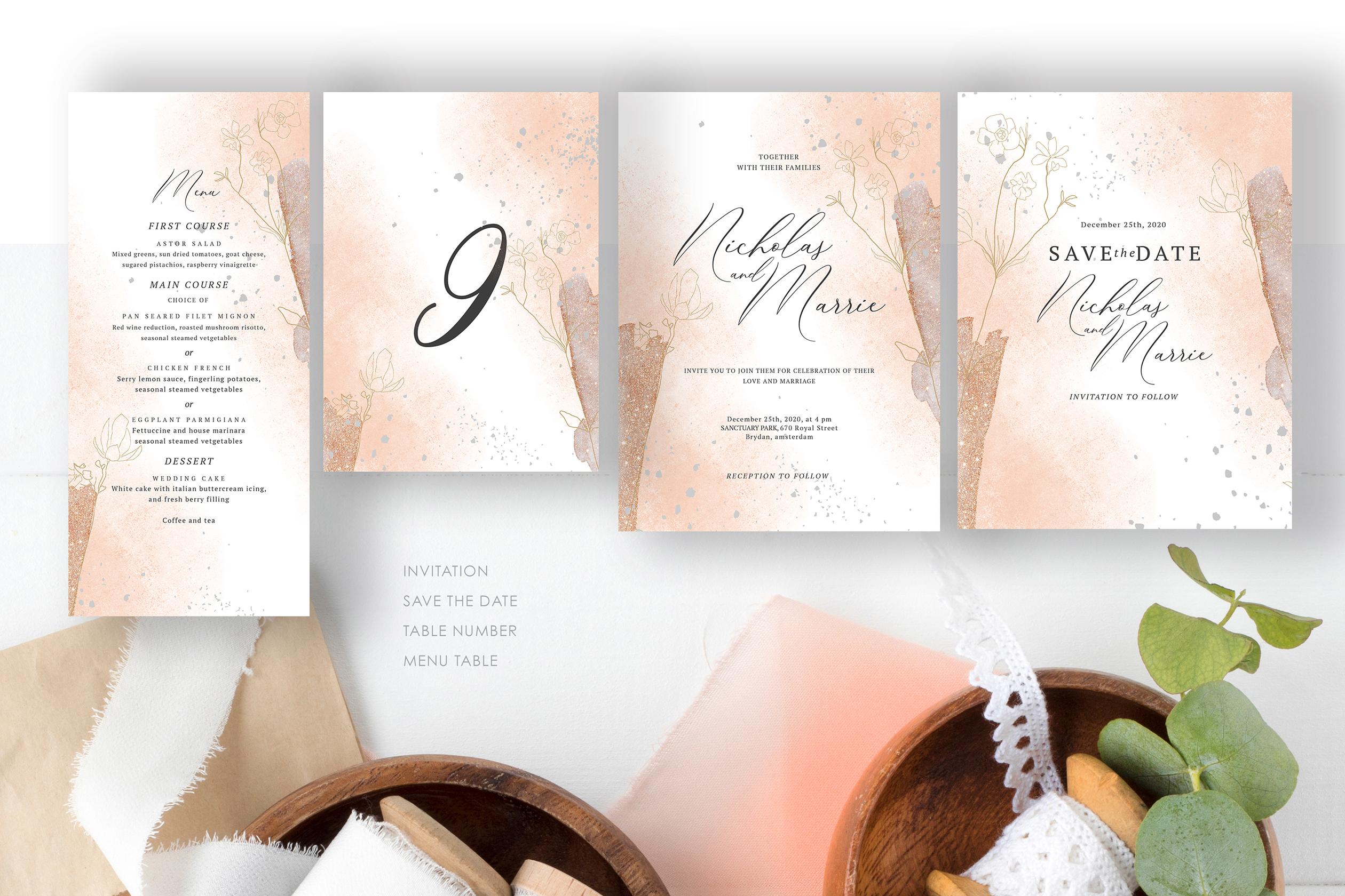 Blush Foliage Wedding Suite example image 5