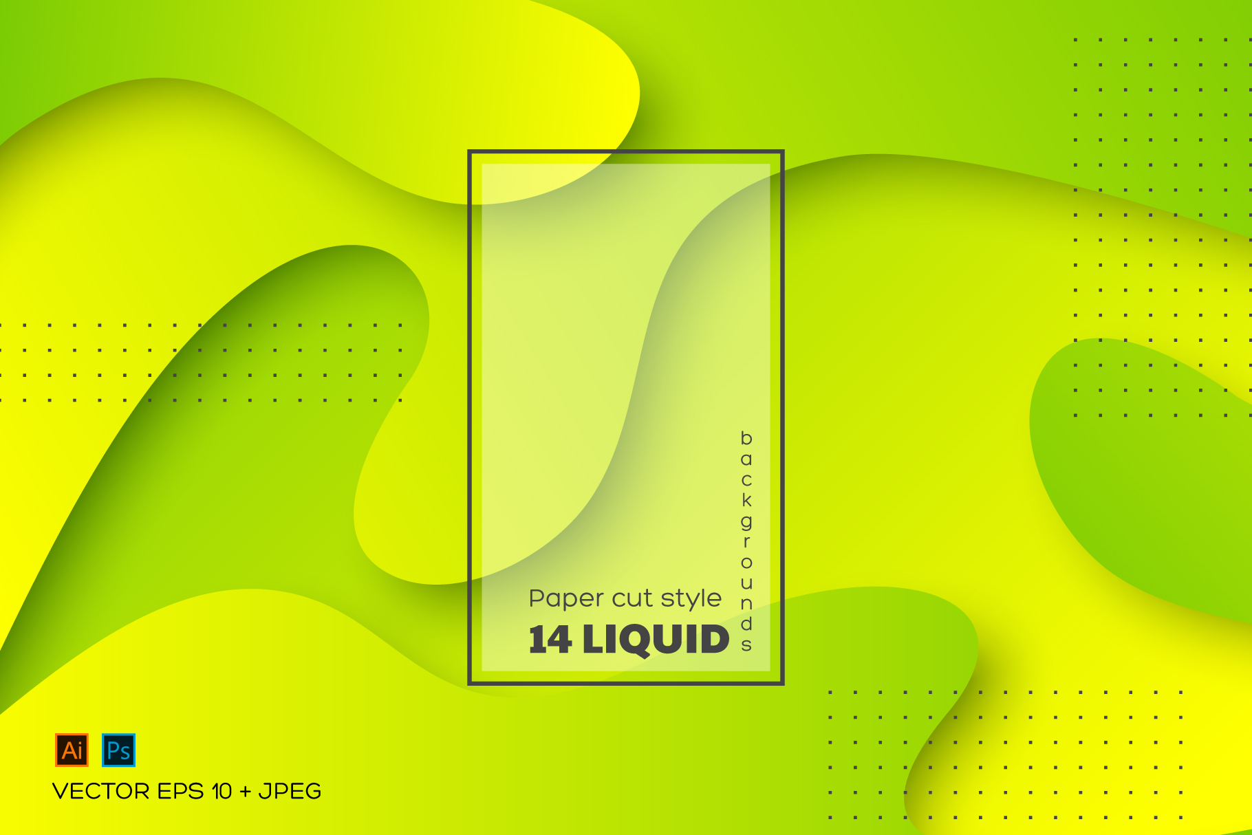 Set of abstract liquid backgrounds. example image 1