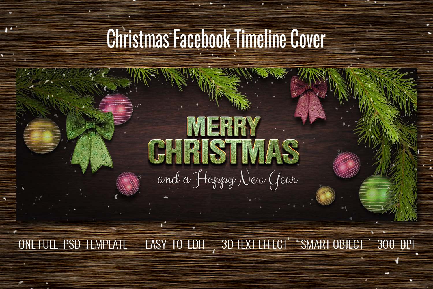 Christmas Facebook Timeline Cover & Instagram Banner PSD example image 3