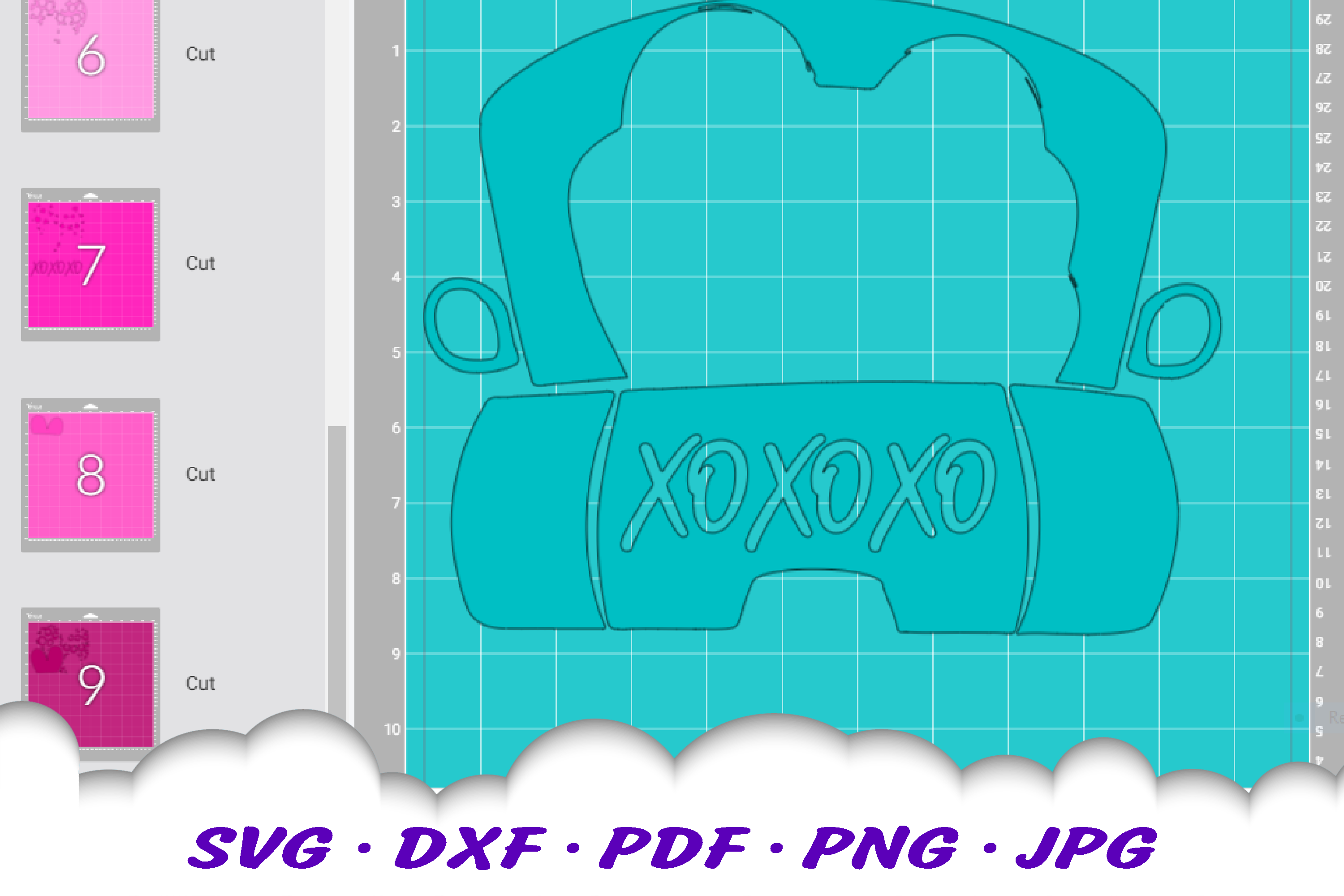 Valentines Truck Leopard Print Heart SVG DXF Cut Files example image 3