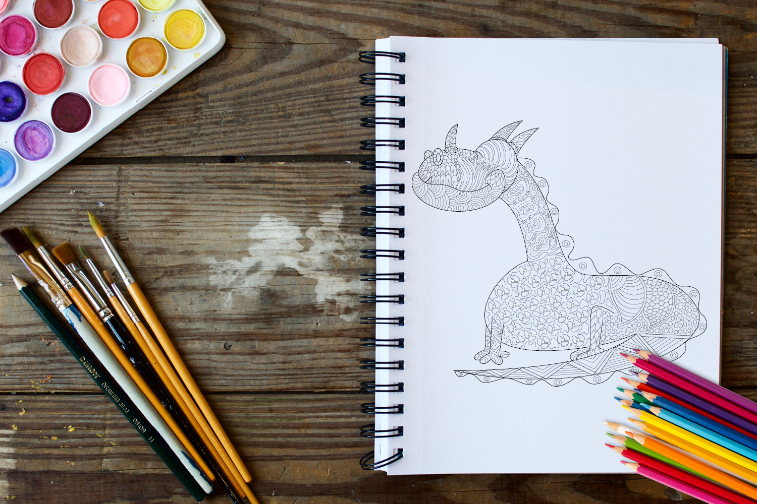 30 Dragons Adult Coloring Pages Instant Download, Coloring Book for Adults example image 2