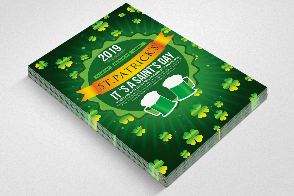 St. Patricks Day Flyer Template example image 2