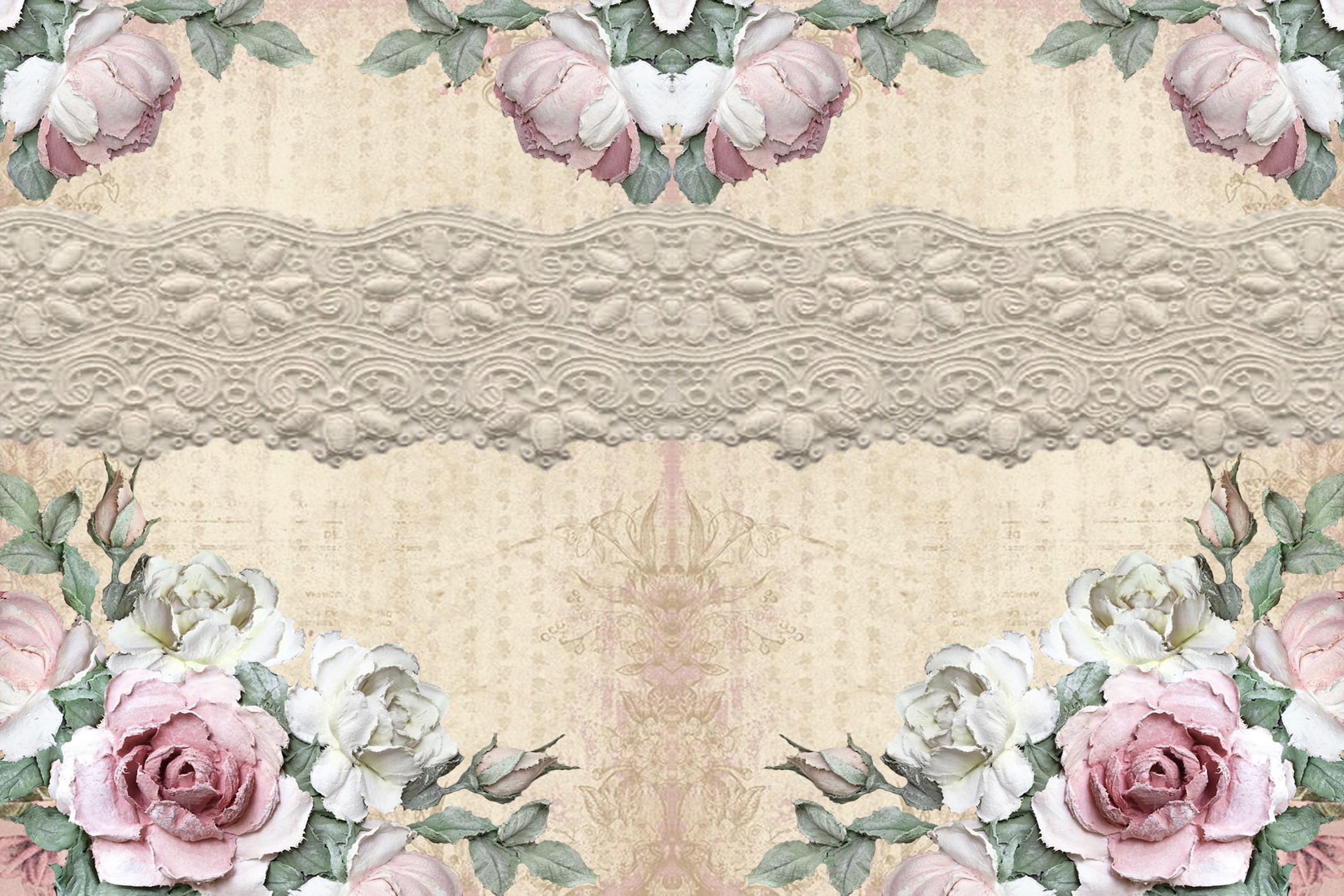 20 Journaling Background papers. Rustic Roses Commercial Use example image 4