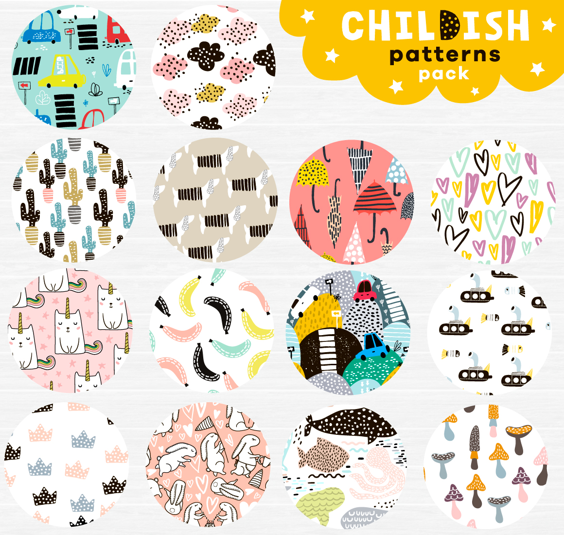 Childish patterns pack vol. 2 example image 6
