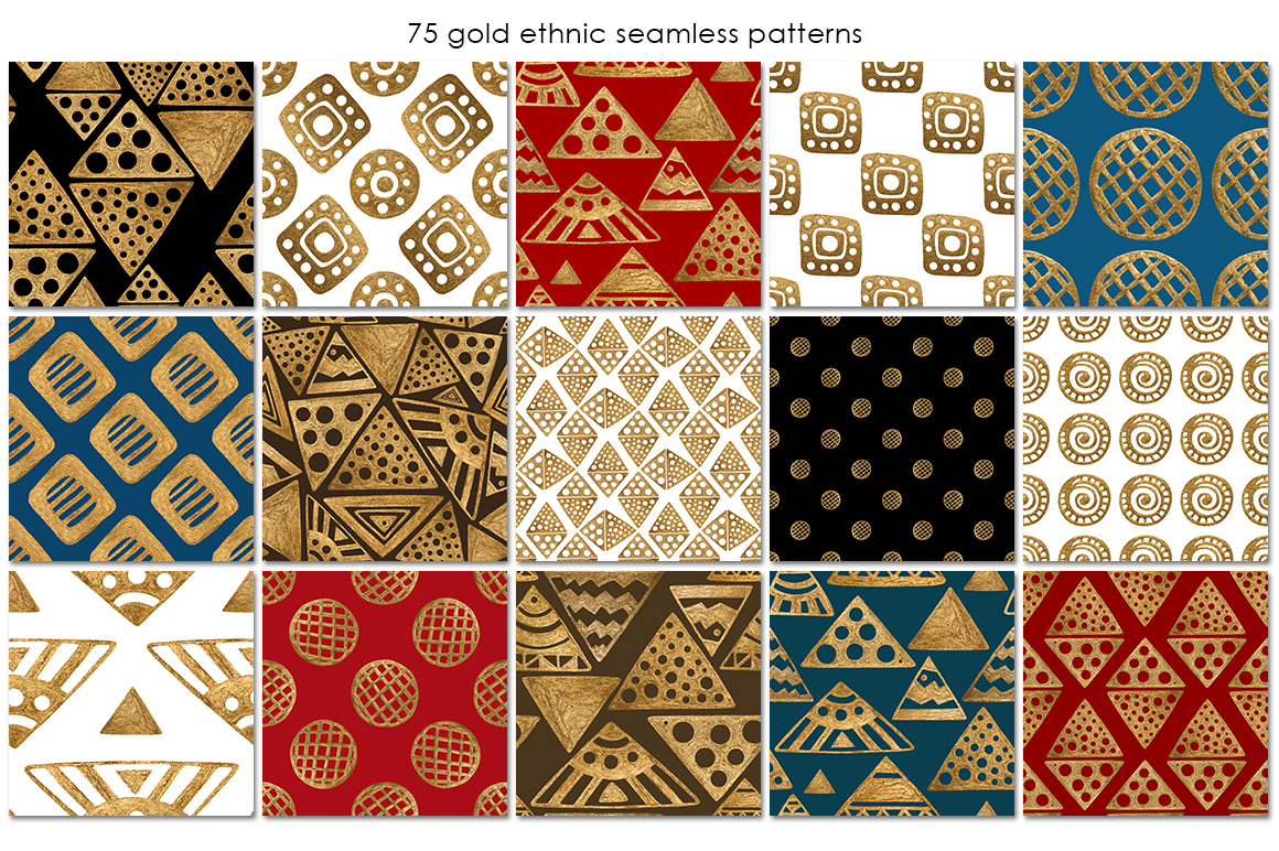 GOLD ETHNIC patterns example image 6
