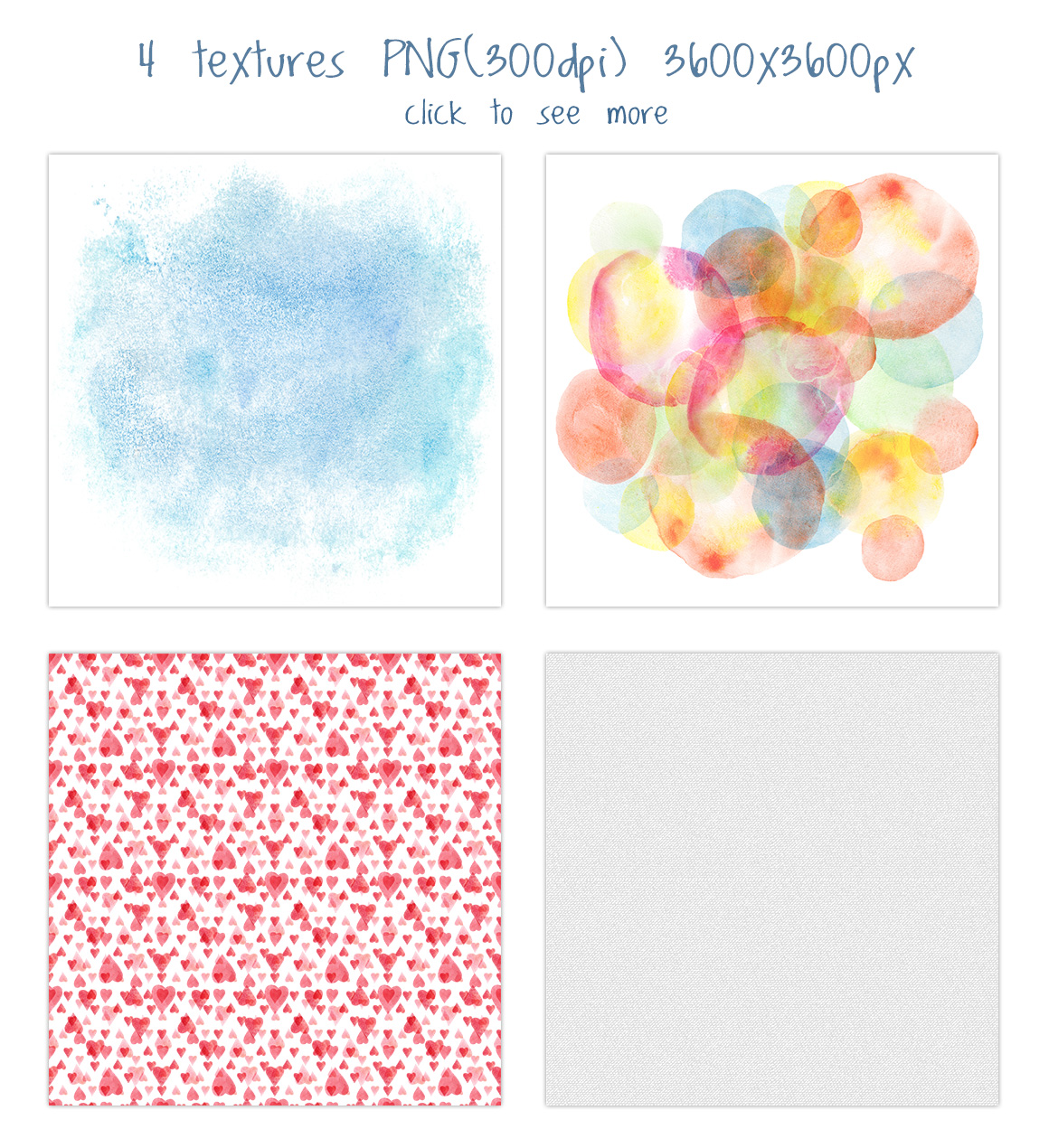 Romantic watercolor set. Love is in the air example image 6
