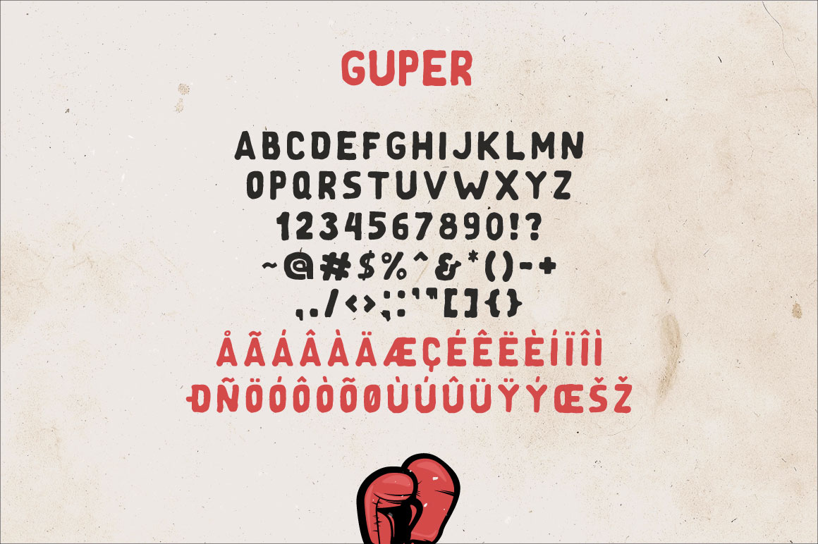 Guper Sans - Handcrafted Font example image 4