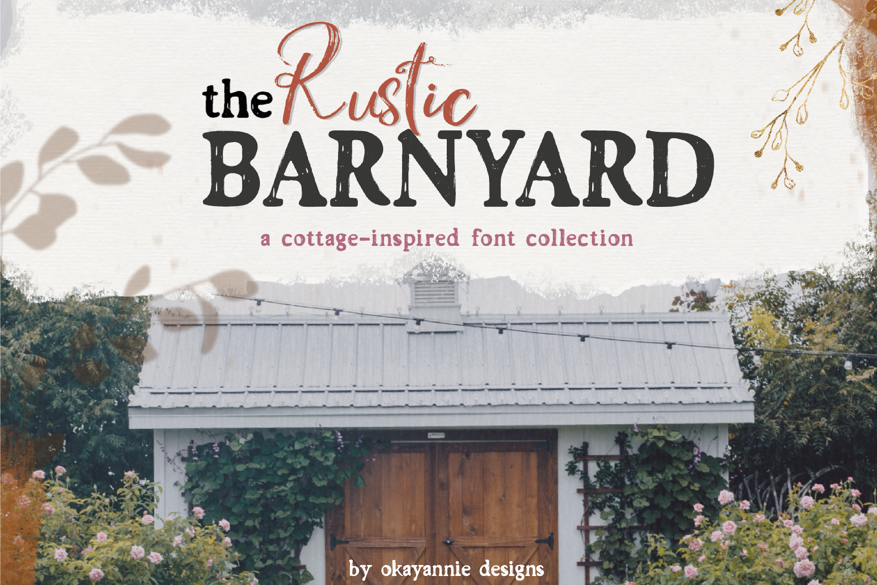 the Rustic Barnyard Font Collection example image 1