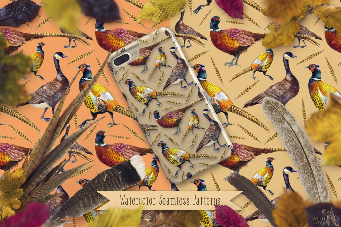 Pheasant in Rosehip Patterns example image 6