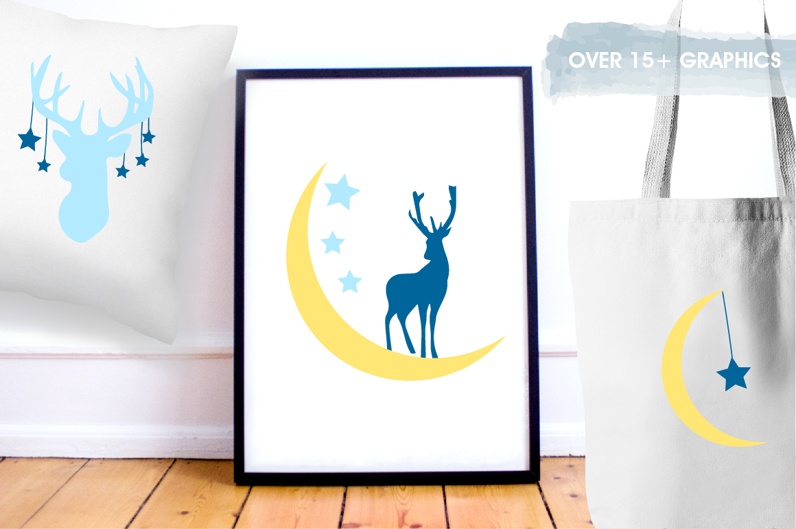 Nursery deers graphics and illustrations example image 5