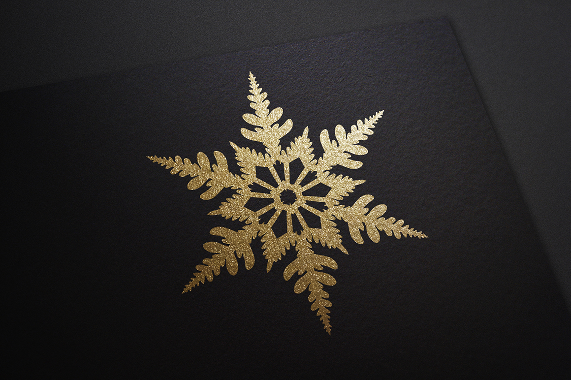 500 Snowflake Vector Ornaments example image 12