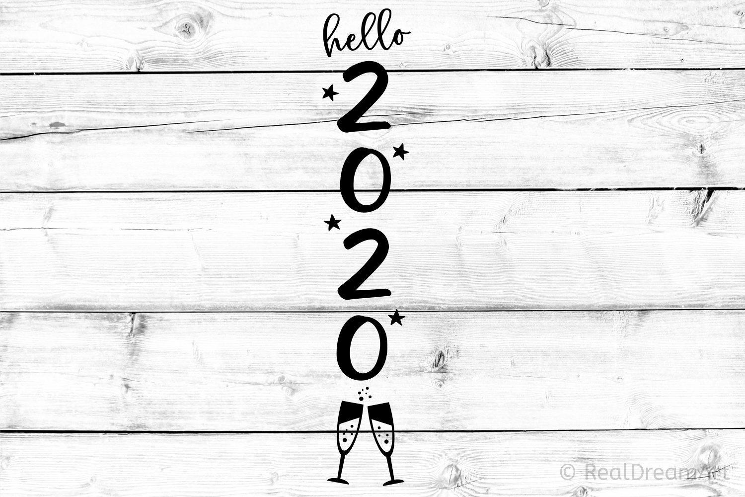 Hello 2020 Porch Sign SVG, DXF, PNG, EPS example image 1