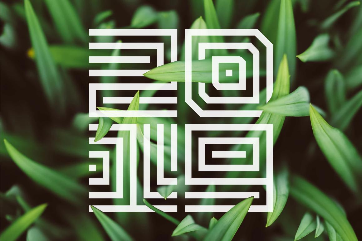 Maze Line Typeface example image 4