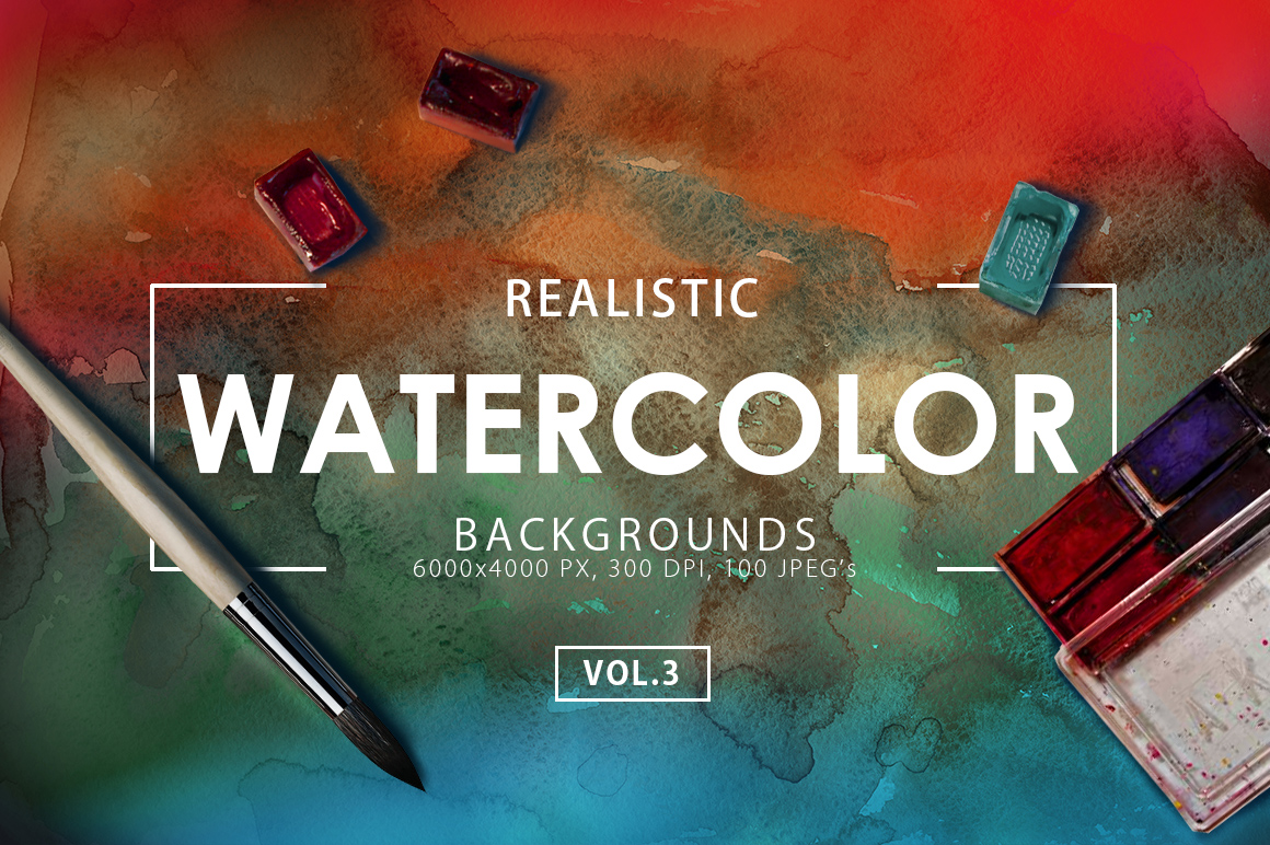 Only Watercolor Backgrounds Bundle example image 9