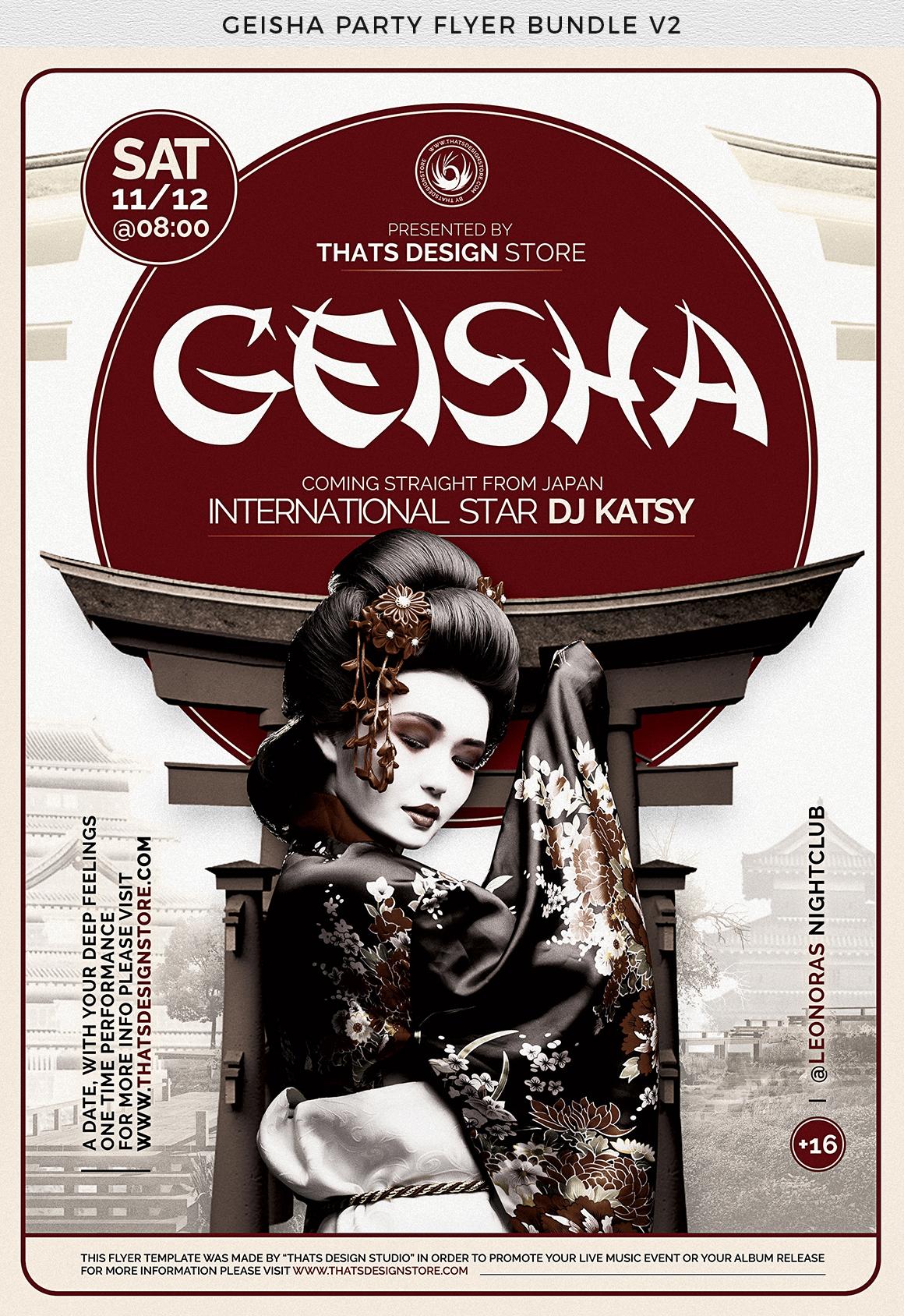 Geisha Party Flyer Bundle V2 example image 12